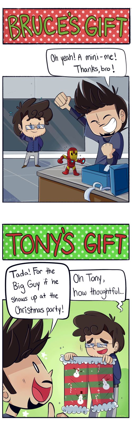 AsktheScienceBros - Christmas Gifts by ecokitty on DeviantArt