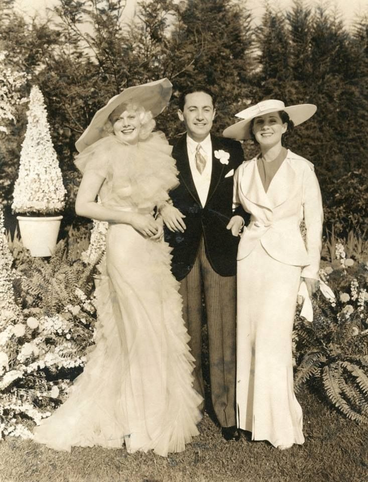 Jean Harlow, Irving Thalberg, and Norma Shearer
