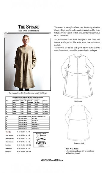 Merchant & Mills Patterns | Sewing Patterns | The Strand Coat