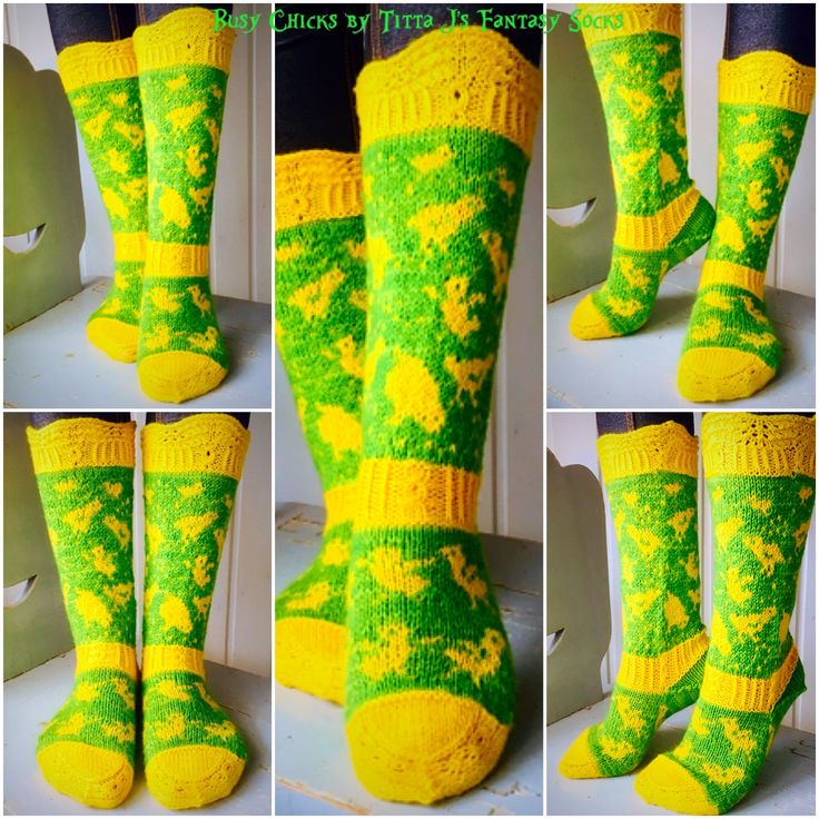 Busy Chicks by Titta J's Fantasy Socks