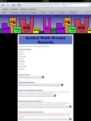 Think * Share * Teach: freebie  Google form to track RTI math--form transfers to printable spreadsheet