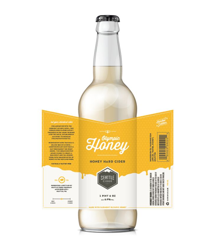 Seattle Cider Co : Honey Hard Cider, by Maddy Porter, DEI Creative