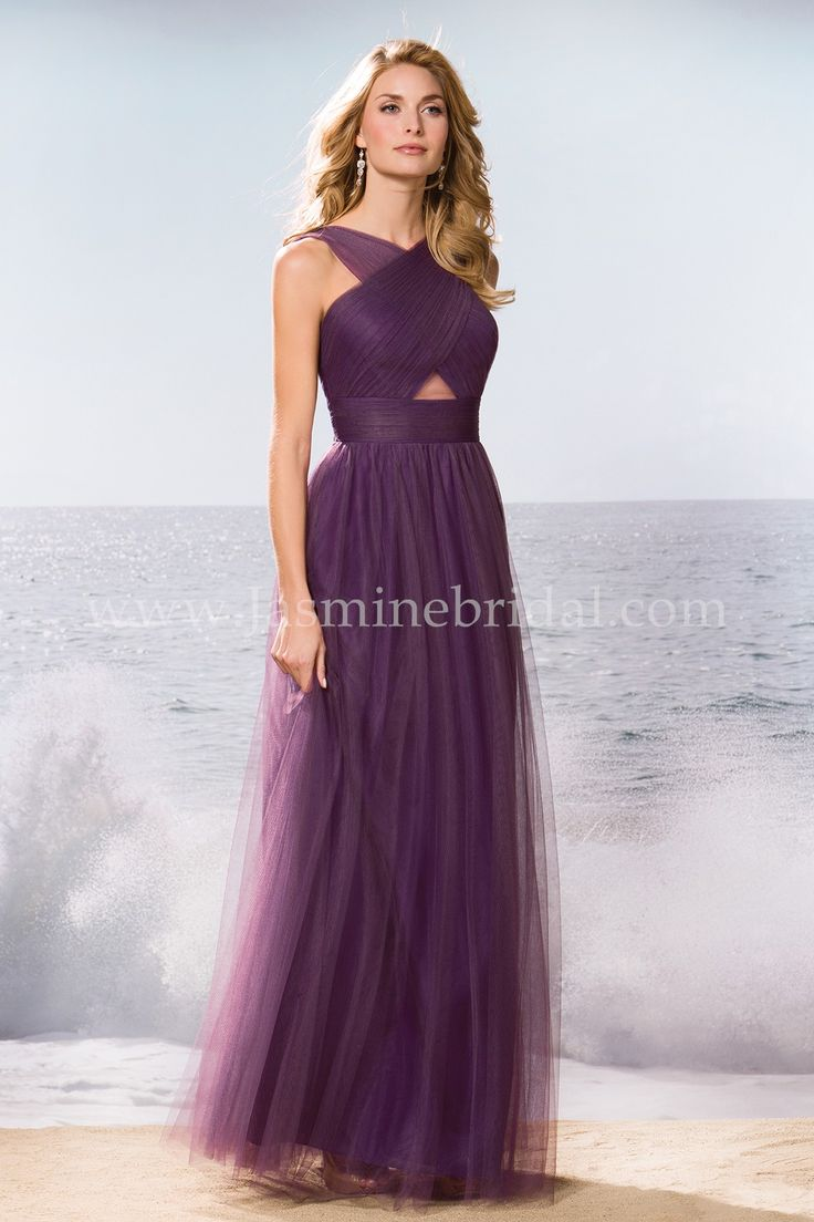 39 best fall 2015 bridesmaids images on pinterest jasmine bridal jasmine bridal bridesmaid dress belsoie style l174061 in orchid shadow an adaptable bridesmaid dress ombrellifo Images