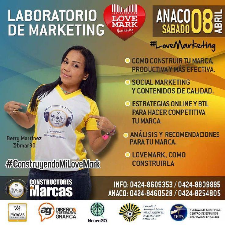 Anaco se viste de #Marketing éste  próximo sábado 08 de Abril a las 9:00am C.C. Milán. Oficina 5  #LaboratorioDeMarketing #LoveMark #Diseno #Anaco @dekkasaccesorios  @victoriavogue_ca  @lotochrystal