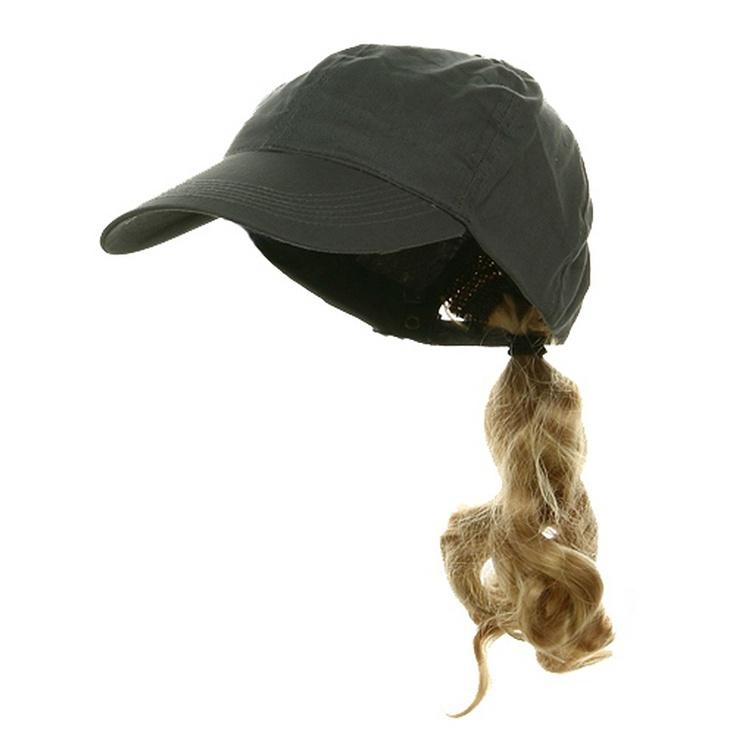 Ponytail Baseball Cap Grey Blonde Party Crazy Hats