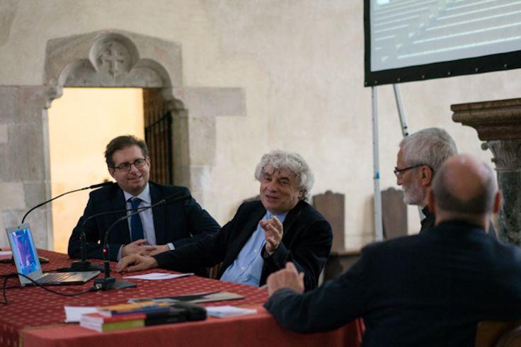 Da sinistra: l'arch. Daniele De Luca, l'arch. Mario Botta, Mons. Marco Arnolfo, don Valerio Pennasso