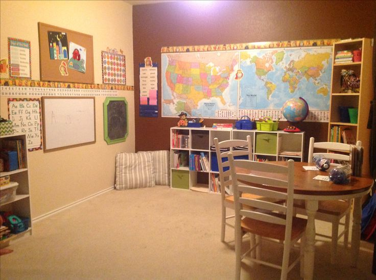 Great Homeschool room, just the right size. A little smaller would even be ok.