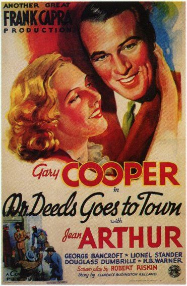 """Mr. DEEDS GOES TO TOWN"" (1936) GARY COOPER, JEAN ARTHUR and GEORGE BANCROFT"