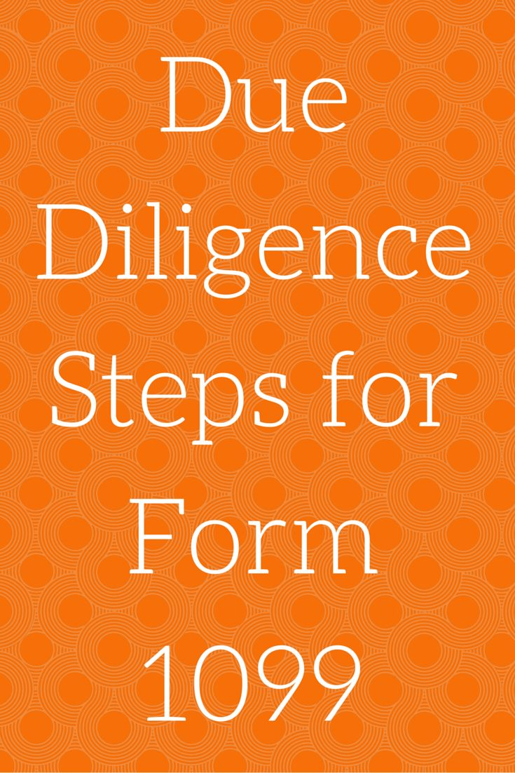 Best 25 1099 form 2015 ideas on pinterest form 1099 misc 2015 due diligence steps for form1099 this course is designed to develop a plan and falaconquin