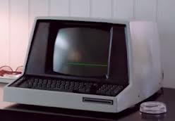 Reproduction of an old monochrome display #computer with integrated #keyboard recently featured in an Xfinity #commercial. www.smartdeploy.com #OldSchool