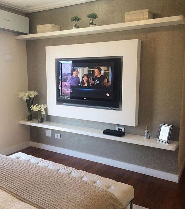 Resultado de imagem para painel simples para tv no quarto