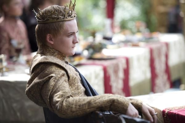"Jack Gleeson as King Joffrey in Sunday's episode of ""Game of Thrones,"" ""The Lion and the Rose,"" written by George R.R. Martin. (HBO)"