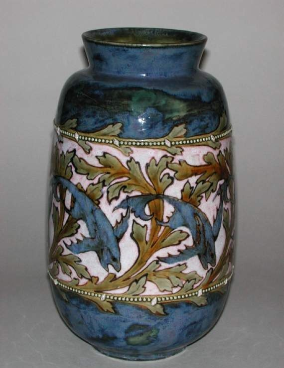 Salt-glazed stoneware vase, Doulton & Co, 1910