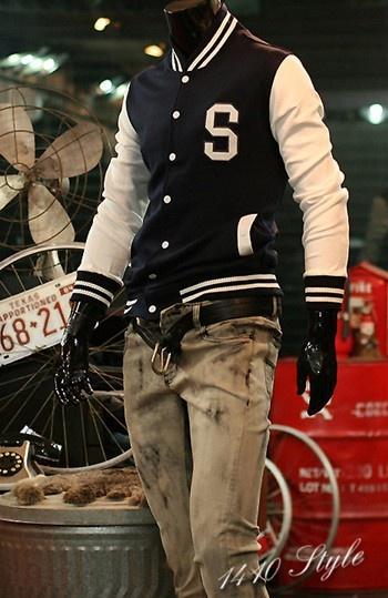 Mens Hoodie Baseball Uniform Jacket Sweatshirt