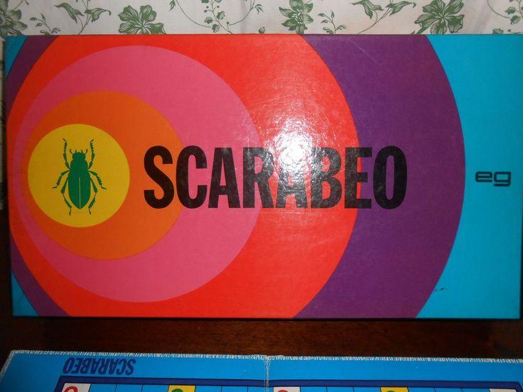 SCARABEO-GIOCO DI SOCIETA  IN SCATOLA-VINTAGE -EDITRICE GIOCHI TESSERE IN LEGNO