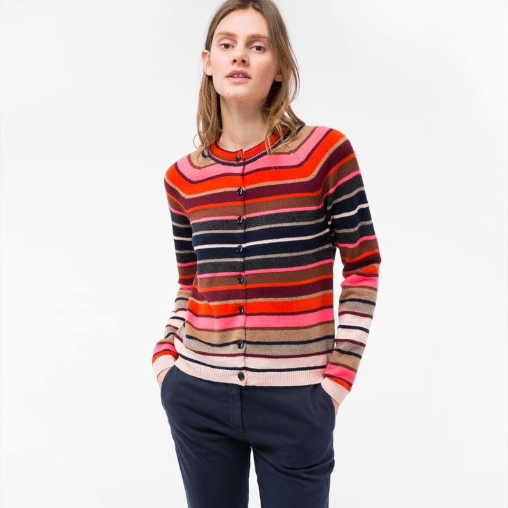 paul smith purse sale, Paul Smith Womens Mixed-Stripe Lambswool Cardigan Pspp-160K-752-R, paul smith online bags sale professional online store - $131.84