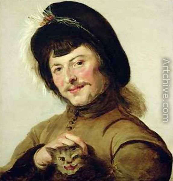 Young Man with a Cat (or Portrait of a Man with a Cat), Frans Hals, 1635
