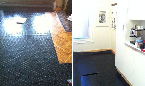 Rubber mat as floor cover up My bathroom floor is ridiculously horrid  House DIY  Flooring