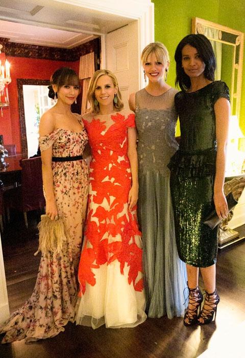 Best Dressed: Tory, Rashida, Brooklyn & Liya: Tory Burch, Beautiful Dresses, Dress Tory, Gorgeous Dress, Best Dressed, Orange Dress