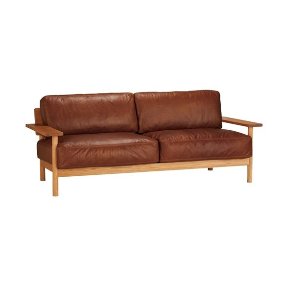 Sofa Leather Workshop: DIMANCHE SOFA (C3) Leather: Â�ファ Ã�ザイン家具 Â�ンテリア雑貨