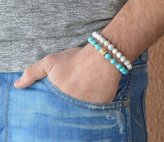 men's bracelet men's bracelets turquoise bracelet