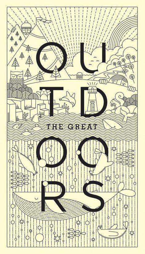 The Great Outdoors by Warwick Kay - 색감/여백/폰트/ 레이아웃