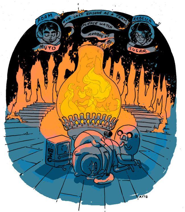 Incendium promo art by Rebecca Sugar