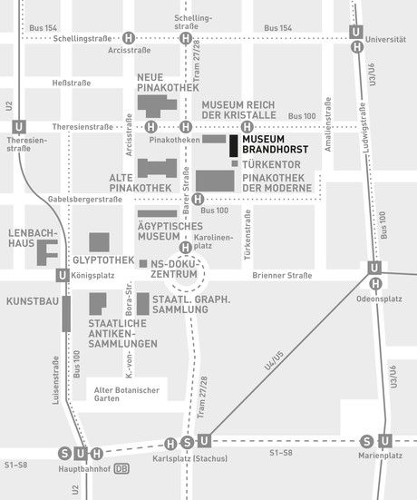 Museum Brandhorst | München: Location map and transport