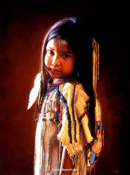 "Native American Art | ... 12"" -Western and Native American Fine Art by Karen Noles"