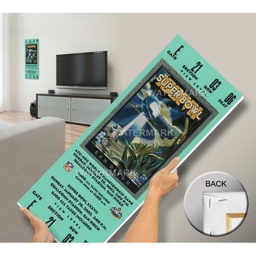 Super Bowl XXXVII (37) Mega Ticket - Tampa Bay Buccaneers xyz