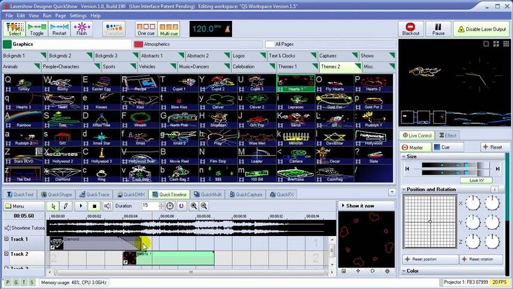 Pangolin QuickShow - Powerful, Affordable, Easy to Use Laser Show Software