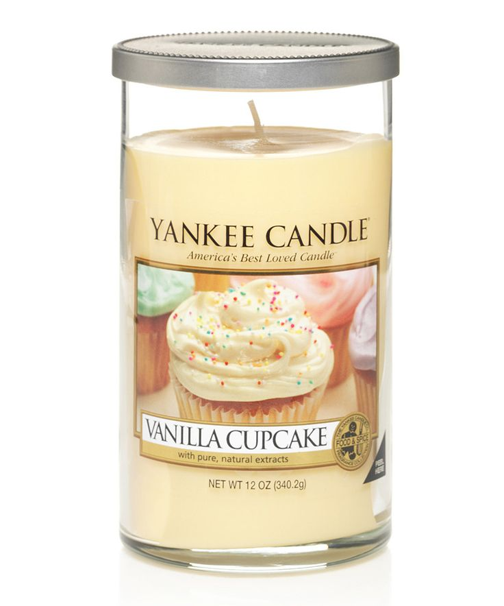 Love this Vanilla Cupcake 12-Oz. Perfect Pillar Candle by Yankee Candle on #zulily! #zulilyfinds