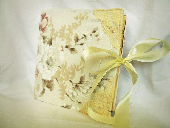 Adorable Shabby Looked Wedding GuestBook personalized custom by PurpleBirdShop