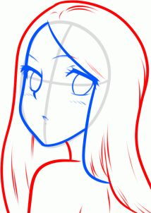 how to draw a simple anime girl step 5