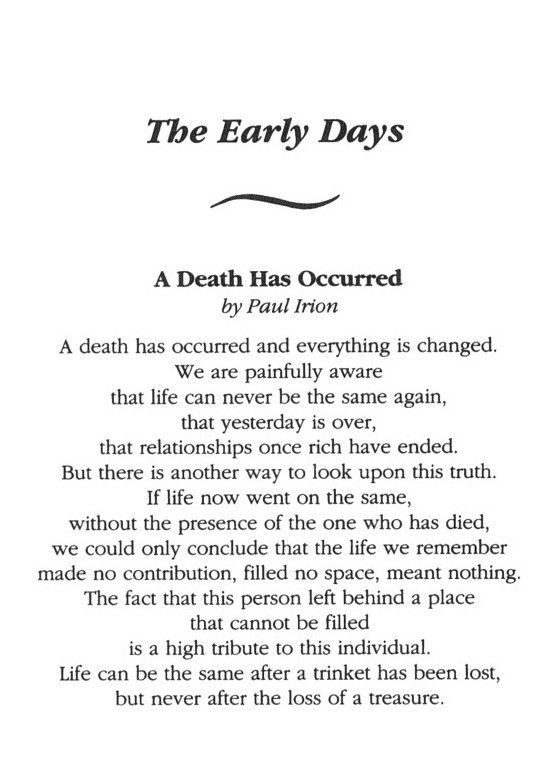 how to write a poem about death