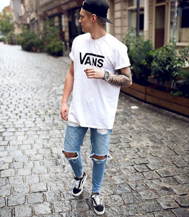 fine 46 Stylish Ripped Jeans for Men http://attirepin.com/2018/01/07/46-stylish-ripped-jeans-men/ #mensjeansoutfit