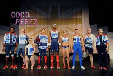 Stella McCartney's official Team GB olympic uniforms for the 2012 London olympics.