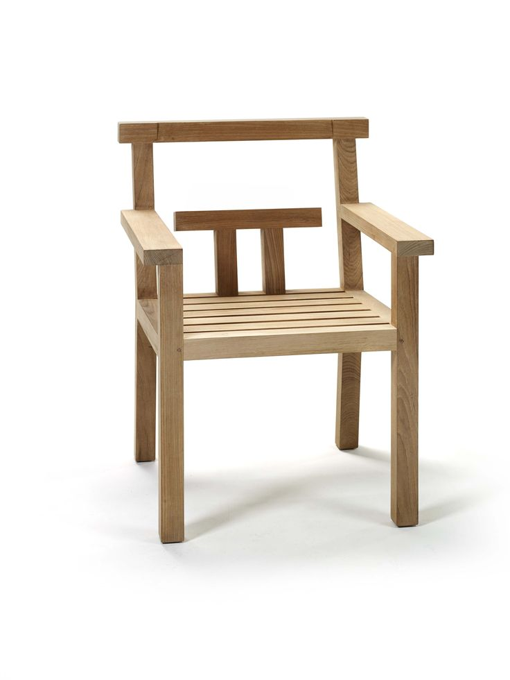 Teak chair with armrests NARA 16 best