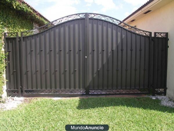 Conquest construccion de rejas y portones miami - Puertas para casa ...