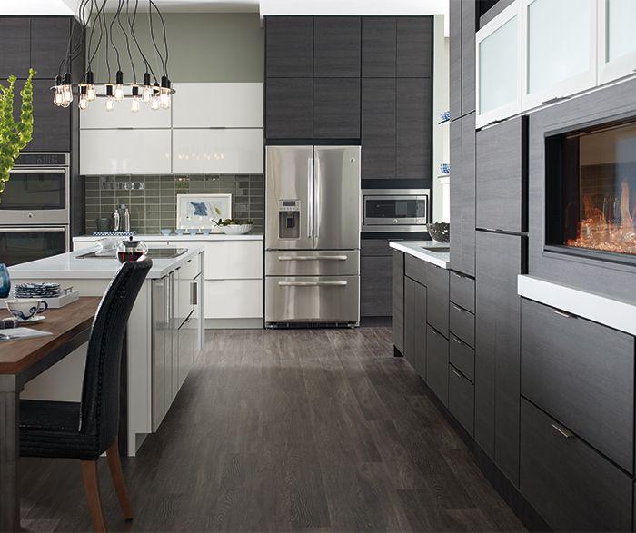 Derazi Textured Laminate Obsidian | Contemporary kitchen ...
