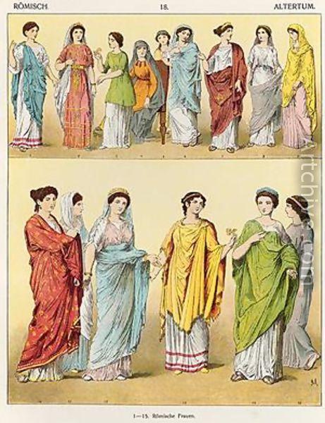 Female Roman Dress - Albert Kretschmer