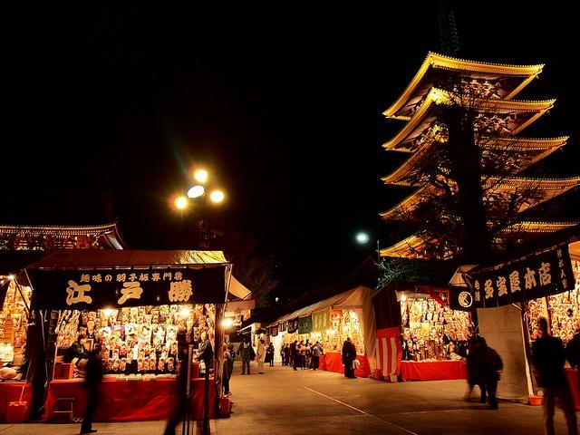 羽子板市 -battledore fair-  浅草寺 -Senso temple-