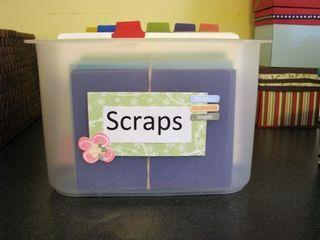 More scrap paper storage