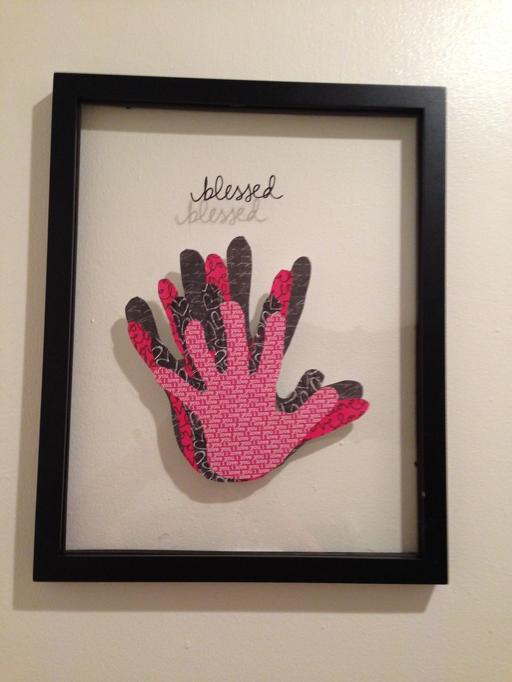 55 best family handprints images on pinterest family for Picture frame crafts for adults