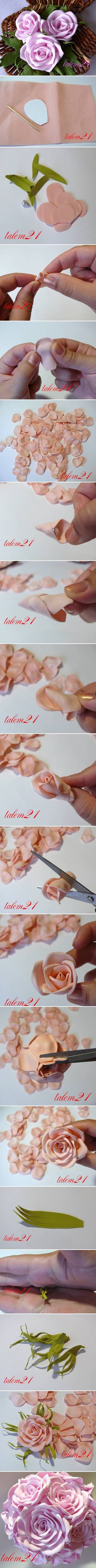 Step by Step Pics to make Beautiful Flowers