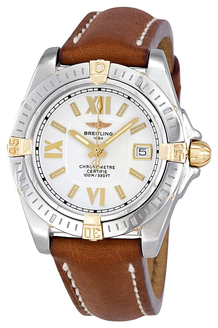 Breitling Women's B7135612-G652BRLT Cockpit Lady Silver Dial Watch @ http://naimlovewatches.tumblr.com/post/31050546882/breitling-womens-b7135612-g652brlt-cockpit-lady-silver
