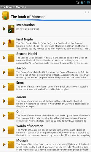 The Book of Mormon was first published in March 1830 by Joseph Smith, Jr. The book was translated from an unknown language known as Reformed Egyptian. The original texts were written on golden plates that Joseph Smith discovered in 1823 with the help of an angel named Moroni. PearMobile suggests the electronic version of this book and we believe that using it will be as comfortable as the paper ones. Easy and comfortable interface will help you to move from one chapter to another without any…