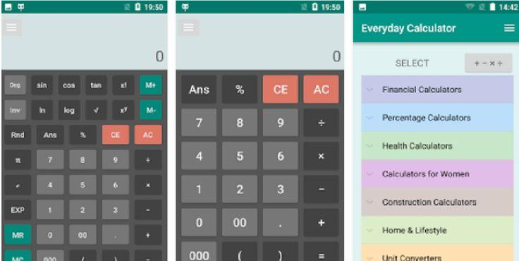 تحميل برنامج الة حاسبة للاندرويد everyday calculator all