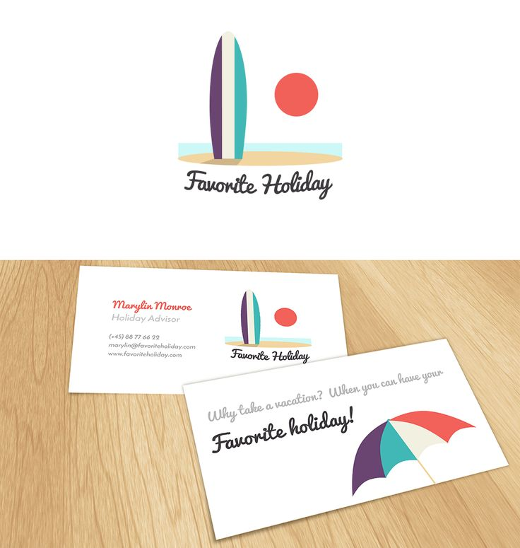 Favorite Holiday #logo and #businesscard design with #pastels | #brandrocket