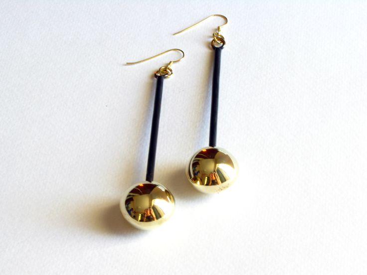 Brass Ball Earrings